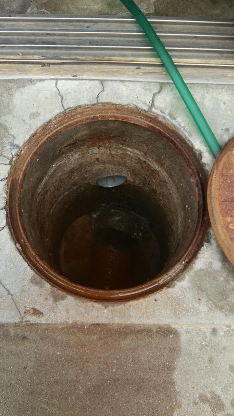 京町屋の下水